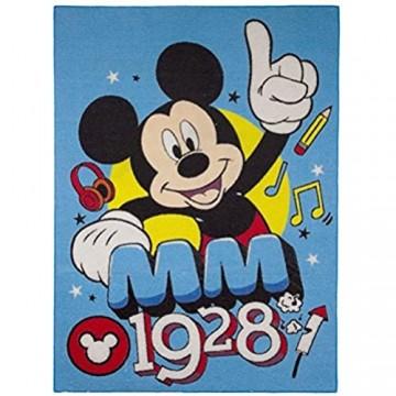 Mickey Mouse Teppich 133 x 95 cm Kinderteppich Kinder Spielteppich Micky Maus