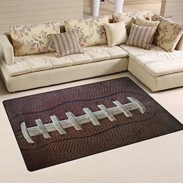 Naanle American Football Laces rutschfester Teppich für Wohnzimmer Esszimmer Schlafzimmer Küche 100 x 150 cm