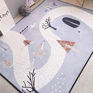 VClife® Teppich Kinderteppich Spielteppich Kinder Baby Krabbeldecke Polyester Yoga Training Schlafzimmer Wohnzimmer Dekoartikel Balkon Picknick Ganzjährig 145 x 200cm Fuchs