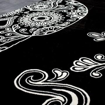 VIMODA Jugendzimmer Kinderzimmer Wohnzimmer Schlafzimmer Schwarz Skull Totenkopf Motiv Maße:200x290 cm