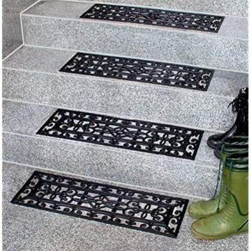 Floordirekt Relief Gummimatten - verschiedene Größen einzeln oder im Set (5er Vorteilspack 25x65 cm)