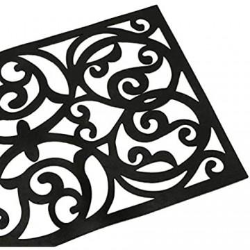 Hedume 4 Stück Gummi-Stufenmatten rutschfeste Stufenmatten Gummi-Fußmatte für Außen- Innenbereich Eingang Treppen (73 7 x 24 1 cm)