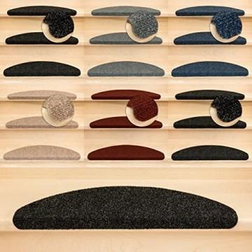 Kettelservice-Metzker Stufenmatten Ramon MW Halbrund | in verschiedenen Set Varianten | 65x21x3 5cm | Anthrazit 15 Stück