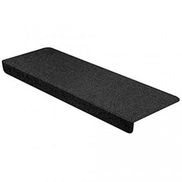 StickandShine Stufenmatte in schwarz eckig für Treppenstufen Treppenstufenmatte zum aufkleben