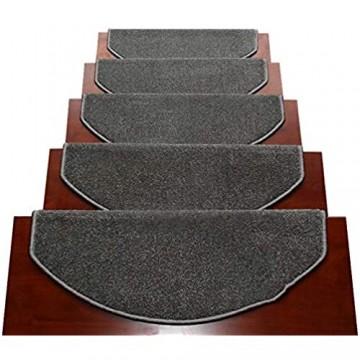 Treppenstufen Matten Stufenmatten Treppenstufen Matten rutschfest Selbstklebend Innen Stufenmatten Für Hartbodentreppe 12mm Dicke Dunkelgrau (Color : Semicircle Size : 1PCS 90X24X3CM)