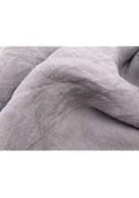 JOWOLLINA Natur Leinen Stonewashed Bettwäsche (155x220 cm 80x80 cm Flieder-grau)
