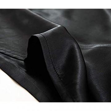 Miruxia Satin-Kissenbezüge für Haar und Haut Satin-Kissenbezüge mit Hotelverschluss (schwarz Queen-Size-Größe 50 8 x 76 2 cm)