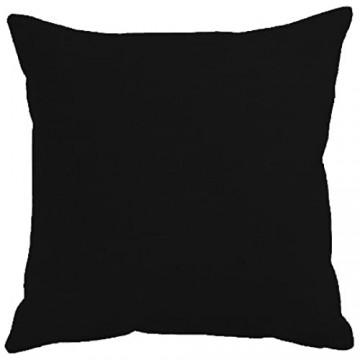 Qool24 Leinen-Optik Kissenbezug mit Reißverschluss Kissenhülle Kissenbezüge Schwarz 25x25 cm