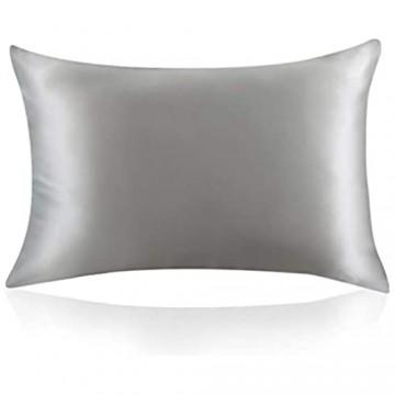 Zimasilk 100 % Maulbeer-Seide Kissenbezüge für Haar und Haut 19Momme Seide beidseitig 1Stück Seide Slive Grey Standard 50x75cm