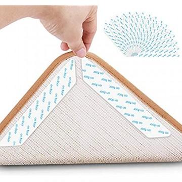 Jooheli Teppichgreifer Antirutschmatte 16 Stück Antirutschmatte für Teppich Rug Grippers Rutschfester Teppichunterlage Washable Wiederverwendbar Teppich Aufkleber Starke Klebrigkeit