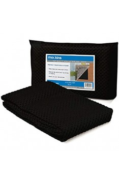 Mockins Black Premium Grip and Non Slip Rug Pad 5 x 7 Area Rug Pad Keeps Your Area Rugs Protected and in Place On Any Hard Floors Or Hard Surfaces