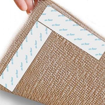 Teppich-Greifer 8 Stück Premium Anti-Curling Teppich-Greifer Teppich-Klebeband hält Ihren Teppich an Ort und Stelle und macht Ecken flach. Ideale rutschfeste Teppichunterlage für Ihre Teppiche
