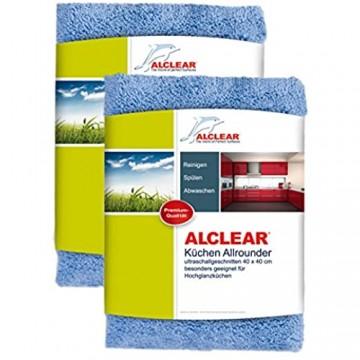 ALCLEAR 820203K_2 2er Set Mikrofasertücher für Hochglanzküchen Microfaser Küchentuch Geschirrtuch Küche 40x40 cm
