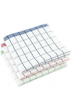 elauelue Geschirrtücher für schnelles Abtrocknen - saugstark weich & fusselfrei - Geschirrtuch aus Microfaser und Baumwolle - bügelfrei - Abtrockentücher - Geschirrhandtücher 3er-Set - 40x70 cm
