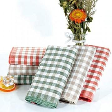 EliteBond Geschirrtücher zum Spülen von Geschirr Baumwolle Geschirrtücher Geschirrtücher für Küche Baumwolle Frottee Plaid Tuch Kariert Rags 6 Sets 33 cm x 33 cm