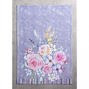 Maison d' Hermine Sweet Rose Lavender-Lush Lavender 100% Baumwolle Set von 3 Multi-Purpose Küchenhandtuch | Bar Handtücher | Frühling/Sommer (50 cm X 70 cm)