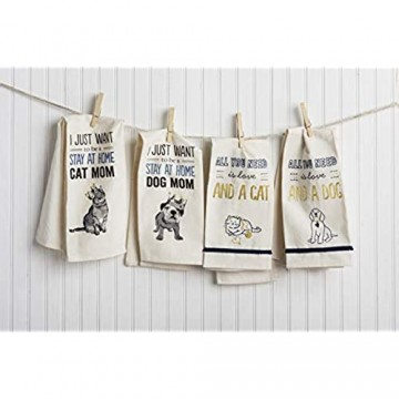 Primitives by Kathy Screen-Printed Geschirrtuch Baumwolle Just Want to Be a Cat Mom 18 x 26-Inches