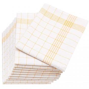 ZOLLNER 12er Set Geschirrtücher Halbleinen 60x80 cm gelb (weitere verfügbar)
