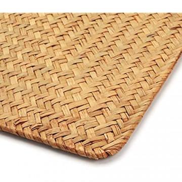 6er Pack Tischsets aus natürlichem Seegras 43 x 30 cm handgewebte rechteckige Rattan Platzsets für den Esstisch