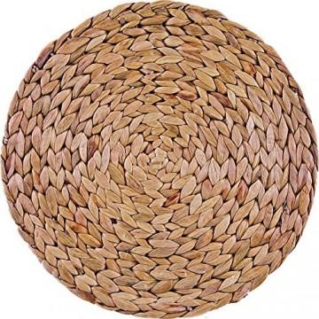Creative Tops 4er Set runde geflochtene Tischsets ausWasserhyazinthe 30cm (11¾ )