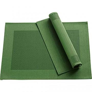 Erwin Müller Tischset Platzset Tischuntersetzer 2er-Pack uni grün Größe 33x45 cm - pflegeleicht langlebig leicht zu reinigen (weitere Farben)
