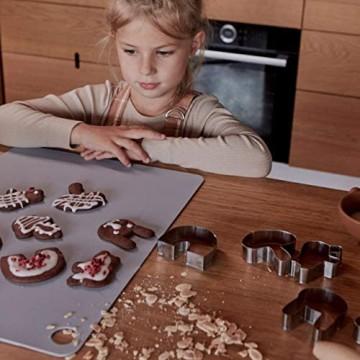 OYOY Living Design 2er Set Platzset/Tischset abwischbar aus 100% Silikon Hell Blau - für Erwachsene und Kinder - Doto Placemat Rechteckig 45x32 cm rutschfest Abwaschbar