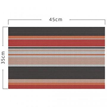 ZEEREE 6er Set Platzsets PVC Wärmedämmung Fleckabweisend rutschfeste Abwaschbar Küche Esstisch Dekoration für Küche,45 X 30 cm (Orange)