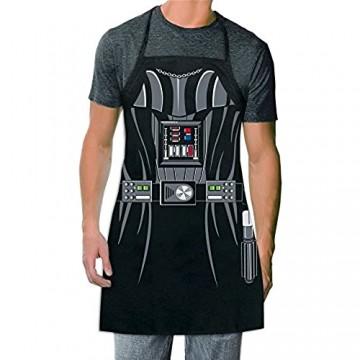 ICUP Star Wars – Darth Vader Be The Character Schürze für Erwachsene 100 % Baumwolle verstellbar Schwarz