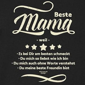 Soreso Design Beste Mama Weil : Geschenk-Set : Kochschürze & Urkunde Geschenkidee zum Geburtstag Geburtstagsgeschenk : Grill-schürze für Frauen Mütter Farbe:schwarz