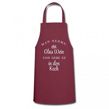 Spreadshirt Man Nehme Ein Glas Wein Und Gebe Es In Den Koch Kochschürze