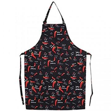 ZJchao Schürze für Damen und Herren praktisch für Küche und Restaurant mit Taschen Polyester pepper Einstellbar