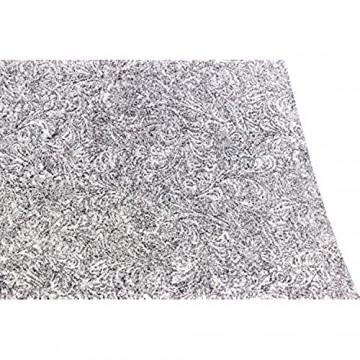 Luxflair XXL Tischläufer Tischband aus edlem Filz mit Design Muster Prägung modern Graumeliert (+ weitere Farben) ca. 40x150cm abwaschbar.