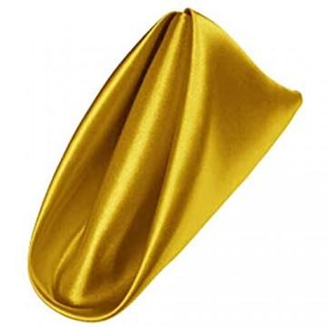 AGN Linen Satin-Serviette 1 Dutzend (45 7 x 45 7 cm) (gelb)
