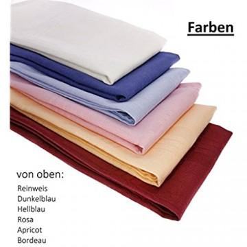 Damilo 3X Stoffservietten/Servietten aus 100% Baumwolle 44cm x 44cm in der Farbe Hellblau