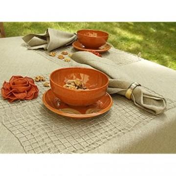 LinenMe Servietten aus beigefarbenem Leinen mit Hohlsaum 4-teiliges Set 45 x 45 cm 0021502
