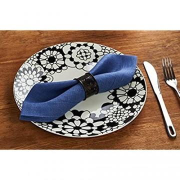 Servietten-Set aus reinem Leinen 40 x 40 cm verschiedene Farben Bio-Leinen 100 % Leinen Kornblumenblau 4 Stück