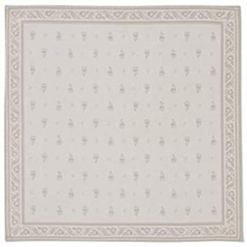 Tissus Toselli 2 Servietten Stoffservietten Baumwollservietten Deckchen Mediterran Frankreich 60% Baumwolle 40% Polyester (Durance Ecru Beige)
