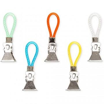 Aufhänger für Küchen Handtücher 5er Pack Handtuchhaken Set geeignet für Topflappen und Geschirrtücher Clips für Geschirrhandtücher Handtuchklammer 5 Farben Set Camping Zubehör zum aufhängen