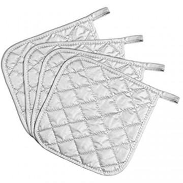ARCLIBER Ofenhandschuhe und Topflappen Baumwollfutter silberfarben potholder Silber
