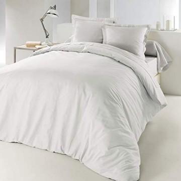 Douceur d 'Intérieur Lina Bettbezug Baumwolle weiß 220 x 240 cm