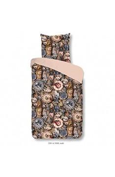 Good Morning Bettwäsche 3-teilig Bettbezug 240 x 200 cm Kissenbezug 60 x 70 cm Vase 2201.99.03 Multi