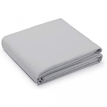 L1NK STUDIO Bettwäsche 240 X 220 cm - Bettbezug Baumwolle 100% (Perkal 200 Fäden) für Bett 150 cm Uni einfarbig Perla