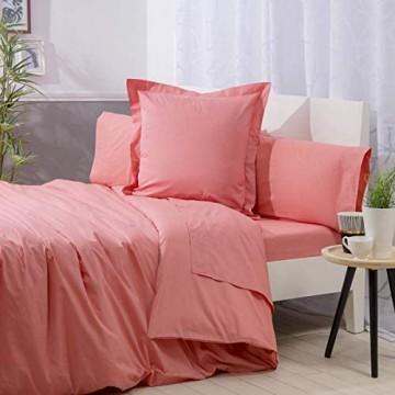 Sancarlos Basicos Bettbezug 100 % Baumwolle unifarben für Bett mit 135 cm