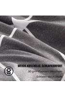 RUIKASI Bettwäsche 135x200 4Teilig Dunkelgrau Geometrie 100% Weiche und Angenehme Mikrofaser Schlafkomfort - 2 Bettbezüge 135 x 200 + 2 Kissenbezüge 80 x 80 cm - 10 Jahre Garantie