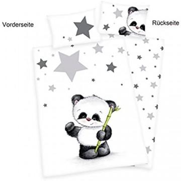 Herding Baby Best Kleinkinder-Bettwäsche-Set Jana Panda Wendemotiv Bettbezug 100 x 135 cm Kopfkissenbezug 40 x 60 cm Baumwolle/Renforcé