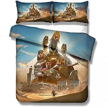 Solopipe Bettwaren-Sets Für Kinder Assassins Creed 3D Bettwäsche Kinderbettwäsche Jungen Bettwäsche (A6 Single 135x200cm/50x75cmx2)-A3_Single_135x200cm/50x75cmx2